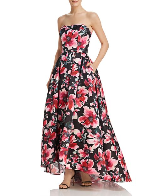 Strapless Floral Ball Gown - 100% Exclusive