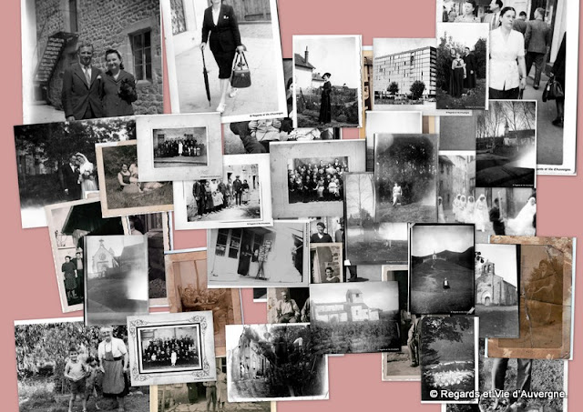 Album photos de famille noir et blanc