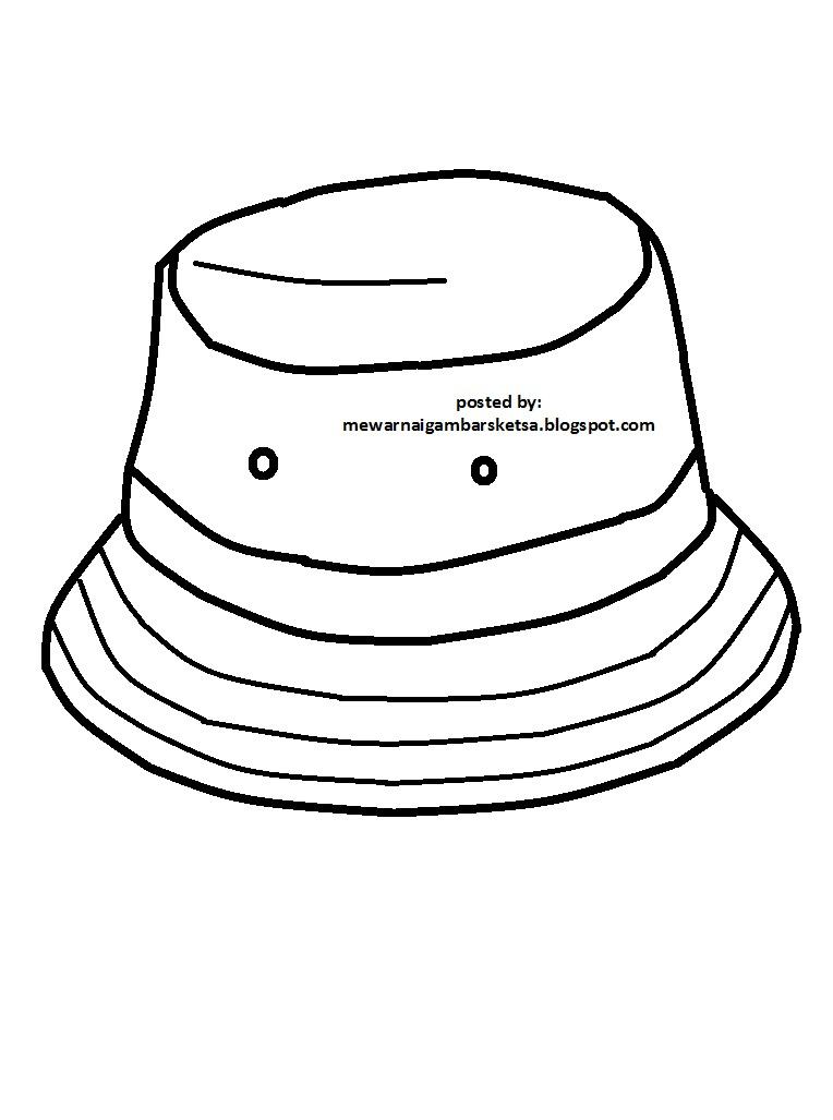 Ahmedatheism Gambar Topi Mewarnai