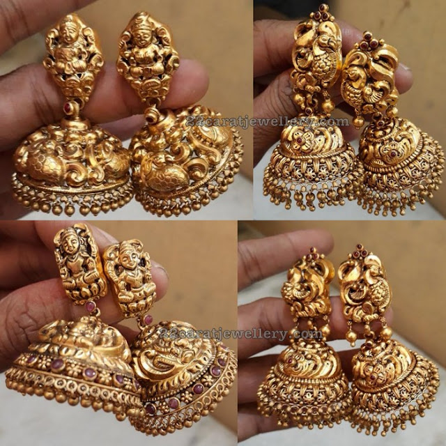 Lakshmi and Peacock Jhumkas 45 Grams