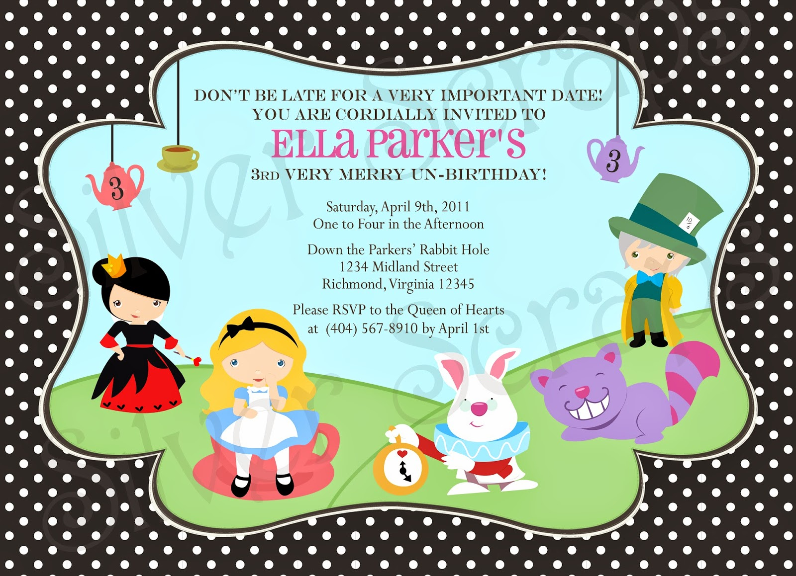 Finding Beauty In Life Alice Wonderland And Mad Hatter Tea Party Birthday Or Baby Shower Invitations
