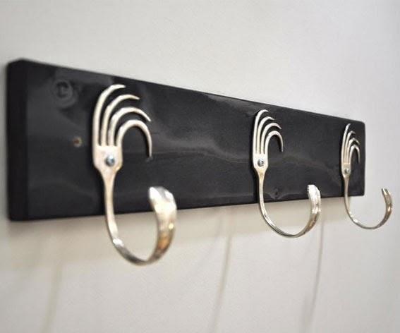 Reutilizar tenedores antiguos para crear un perchero reciclado