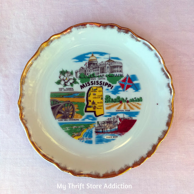 Mississippi state souvenir plate