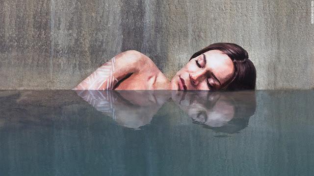 Karya Lukis Luar Biasa Di Atas Air yang Seolah-olah Hidup