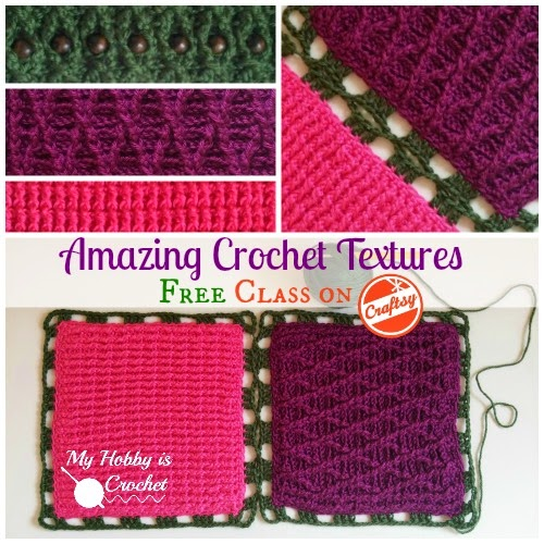 Review of Amazing Crochet Textures - Free Craftsy Class from The Crochet Dude