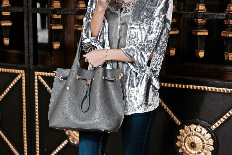 bolso saco gris marengo