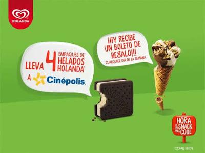 Gana una entrada al cine con Helados Holanda