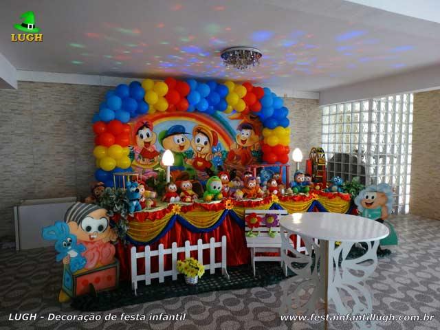Mesa temática Turma da Mônica para festa de aniversário infantil