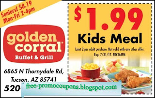 graphic relating to Golden Corral Coupons Buy One Get One Free Printable called Printable Discount codes 2019: Golden Corral Coupon codes