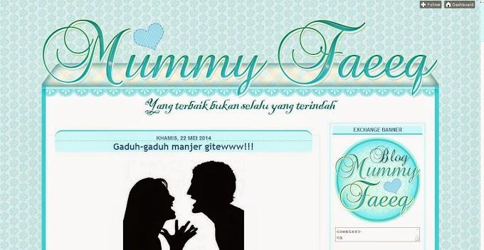 Tempahan Design Blog Mummy Faeeq