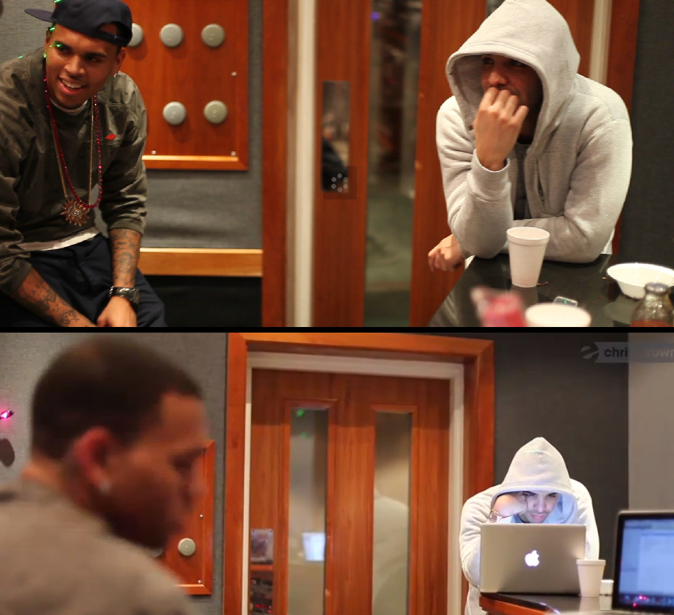 God Music: Drake & Chris Brown in The Studio...BUT WHY