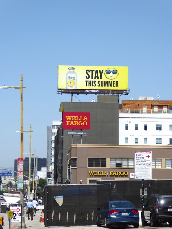 Huberts Lemonade Summer 2016 billboard