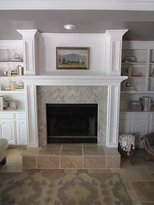 the happy homebodies upgrades in the den fireplace makeover. Black Bedroom Furniture Sets. Home Design Ideas