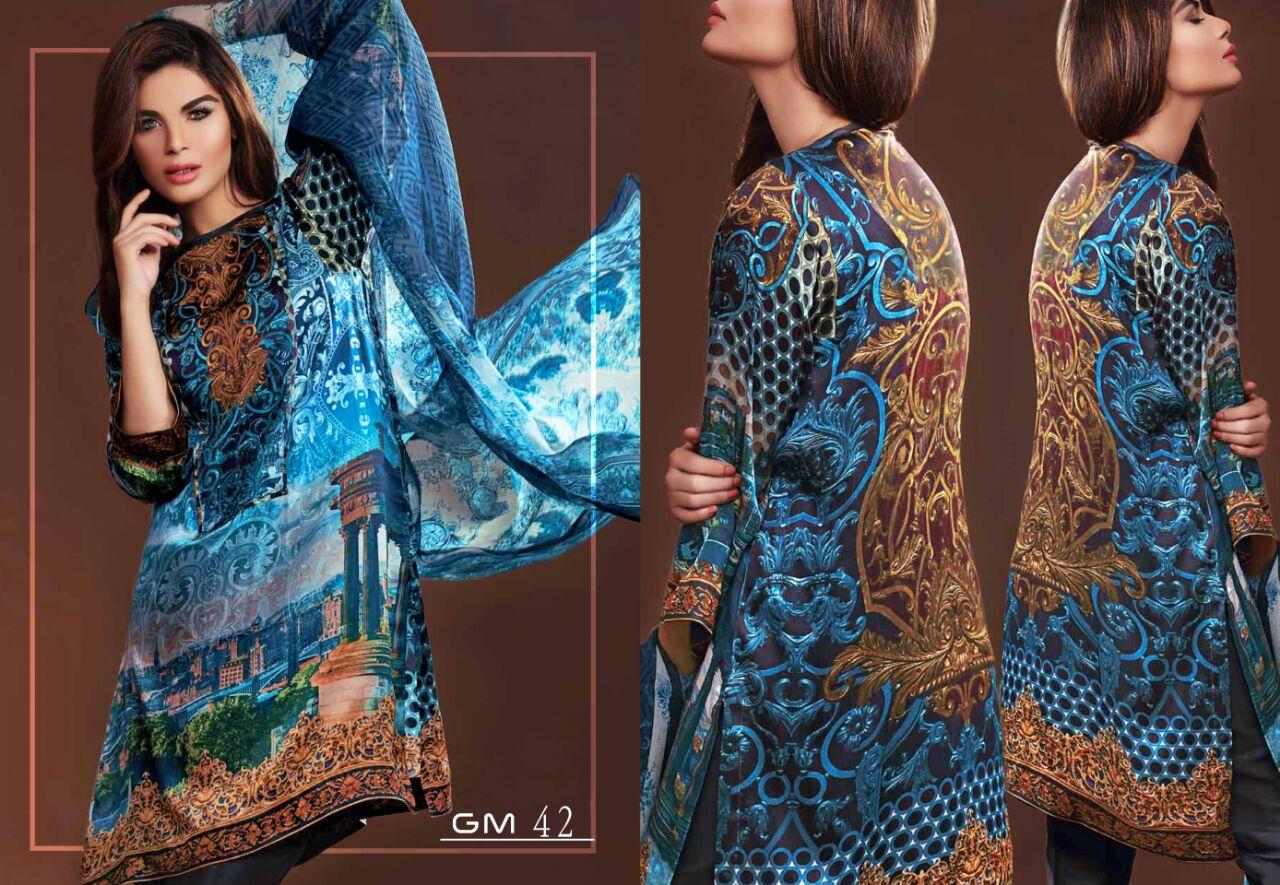 Gulmohar – Pashmina Digital Printed Salwar Kameez Wholesale