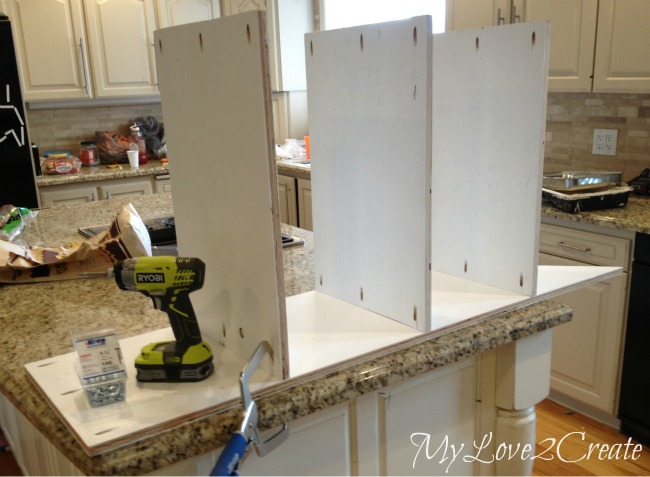 attaching shelves with pocket holes