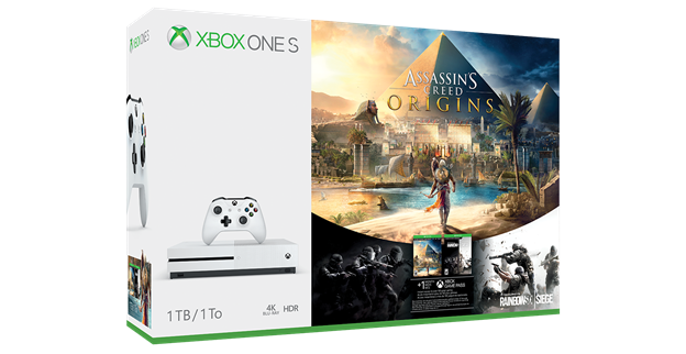 Se presentan dos packs de Xbox One S con Assassin's Creed Origins