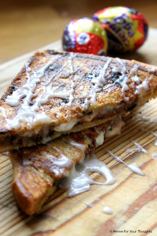 Creme Egg Marshmallow Brioche Toastie