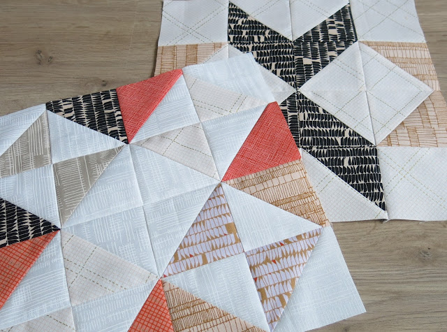 HST Quilt-Along - Blocks #7 and #8 - Carolyn Friedlander fabrics