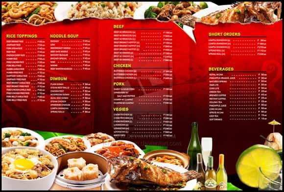 diseños de cartas de menu de restaurantes