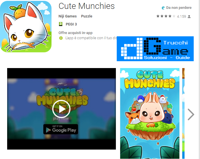 Trucchi Cute Munchies Mod Apk Android v4.0.3