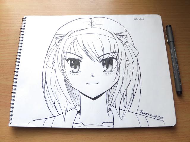 Haruhi Suzumiya lineart