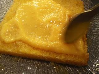 elaboración de la tarta de naranja