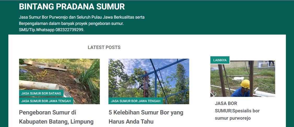 Jasa Sumur Bor Jawa Tengah