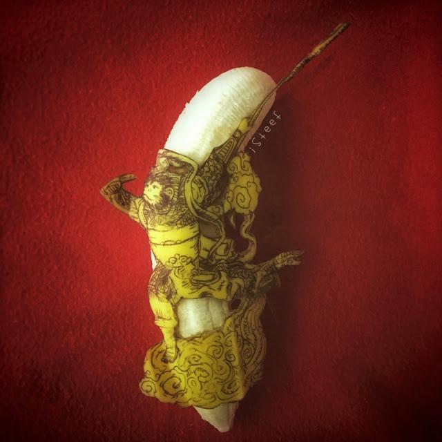 lukisan media buah pisang paling kreatif unik lucu dan menakjubkan-23