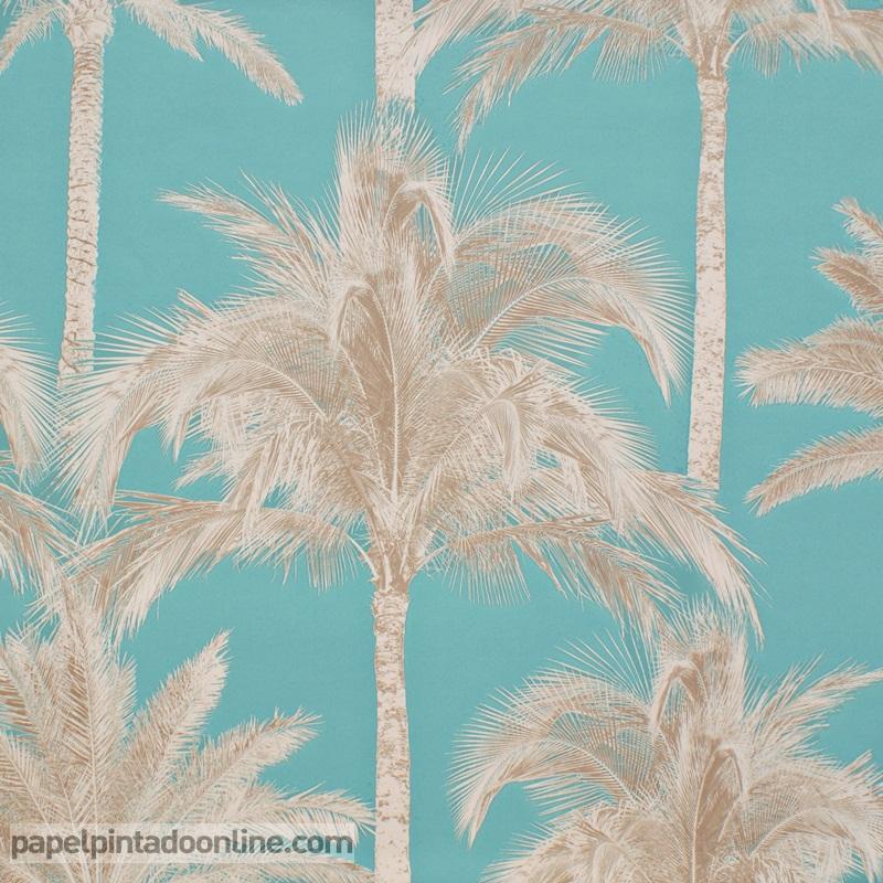 Papel pintado papel pintado pared barato for Papel pintado azul turquesa