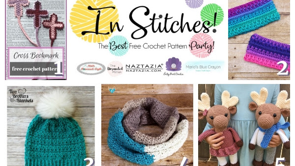 Top 5 Best Free Crochet Patterns Week #25 In Stitches Link Up Party