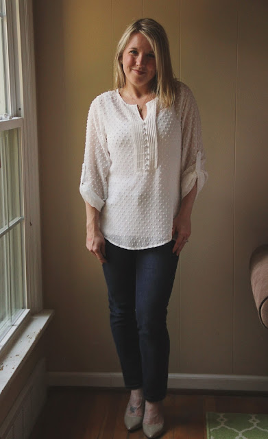 Stitch Fix Brixon Ivy Eugene Swiss Dot Blouse