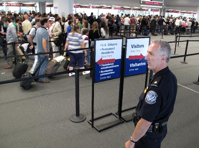 Imigração para entrar nos Estados Unidos