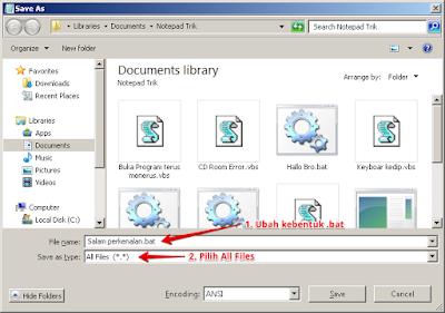 Mematikan komputer secara otomatis menggunakan Notepad