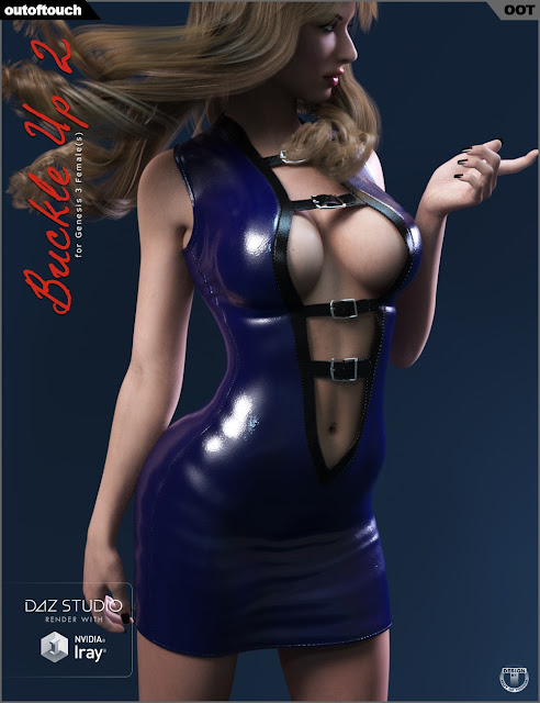 Buckle Up 2 Outfit for Genesis 3 Female