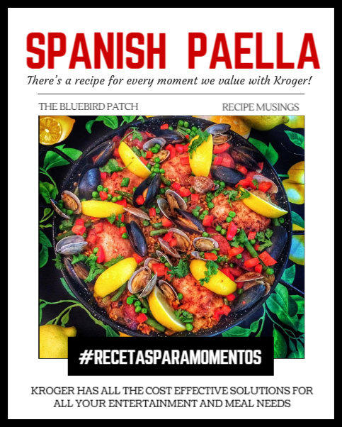 Easy Spanish Paella With Chicken, Duck Sausage and Seafood #RecetasParaMomentos | The Bluebird Patch