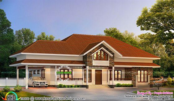 2300 square feet beautiful Kerala house