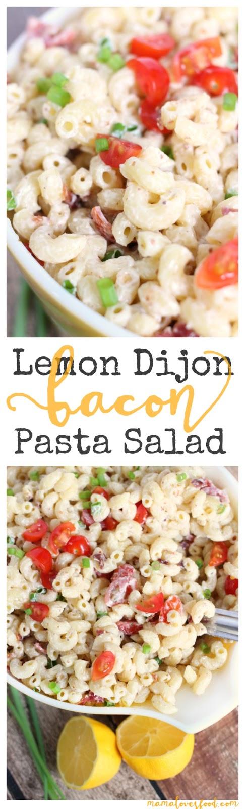 Lemon Dijon Bacon Pasta Salad Recipe