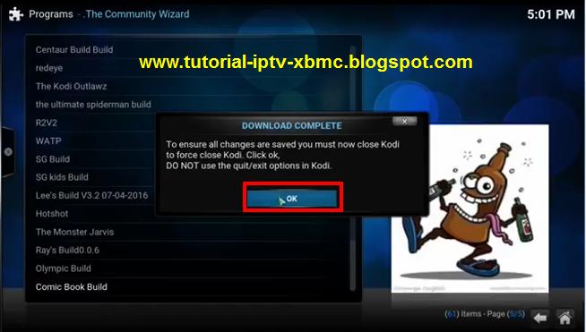 how to install new kodi build