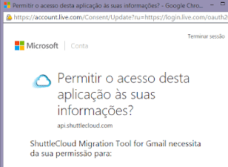 Como abrir email do Outlook.com no Gmail