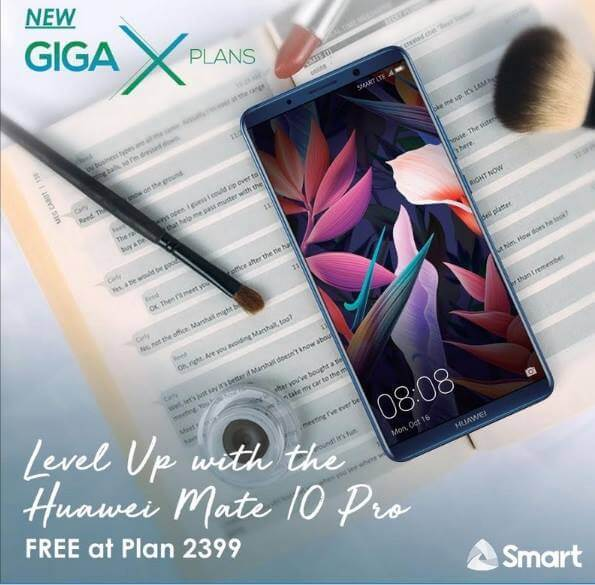 Huawei Mate 10 Pro Now Available at Smart GigaX Plan 2399