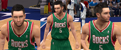 NBA 2K13 HD Face J.J. Redick Cyberface NBA2K Patch
