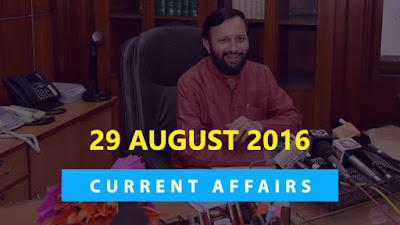Current Affairs Quiz 29 August 2016