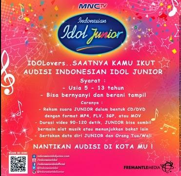 Persyaratan Audisi Indonesian Idol Junior
