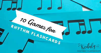 10 Games for Rhythm Flashcards