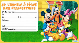 Carte anniversaire Mickey à imprimer