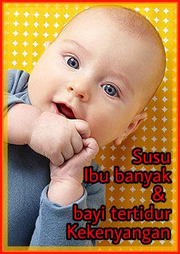 Bayi minum susu ibu kenyang