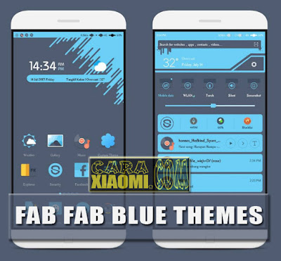 Themes MIUI Mod Fab Fab Blue Mtz Update Version for Smartphone Xiaomi