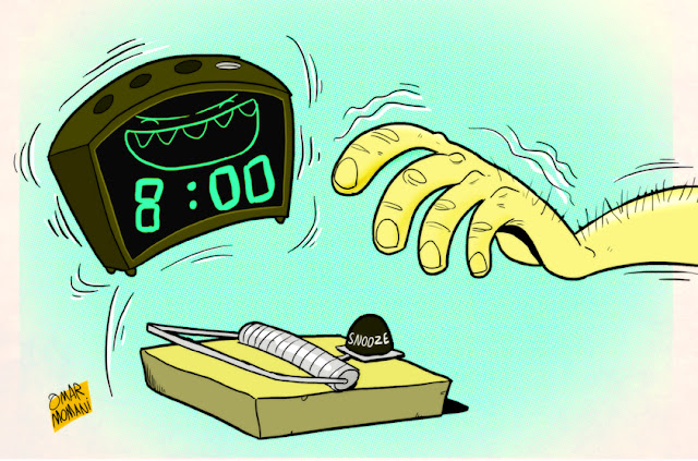 Alarm Clock' Mousetrap cartoon