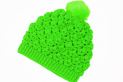 Foto Imagen gorro verde de ganchillo y crochet