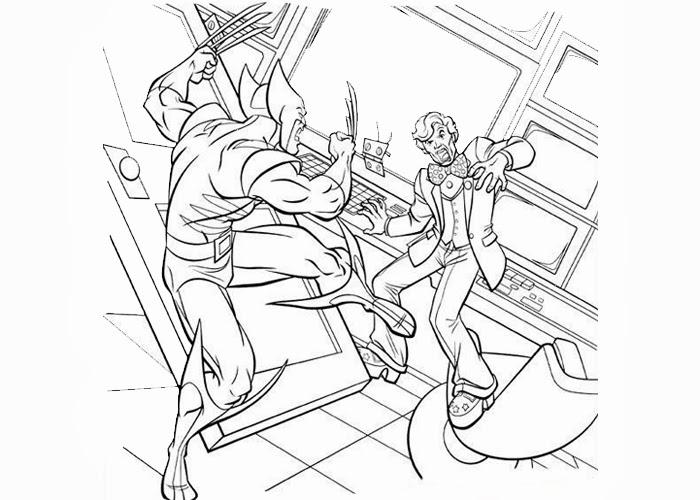 X men wolverine coloring pages em 2020 (com imagens) | Desenhos ... | 500x700